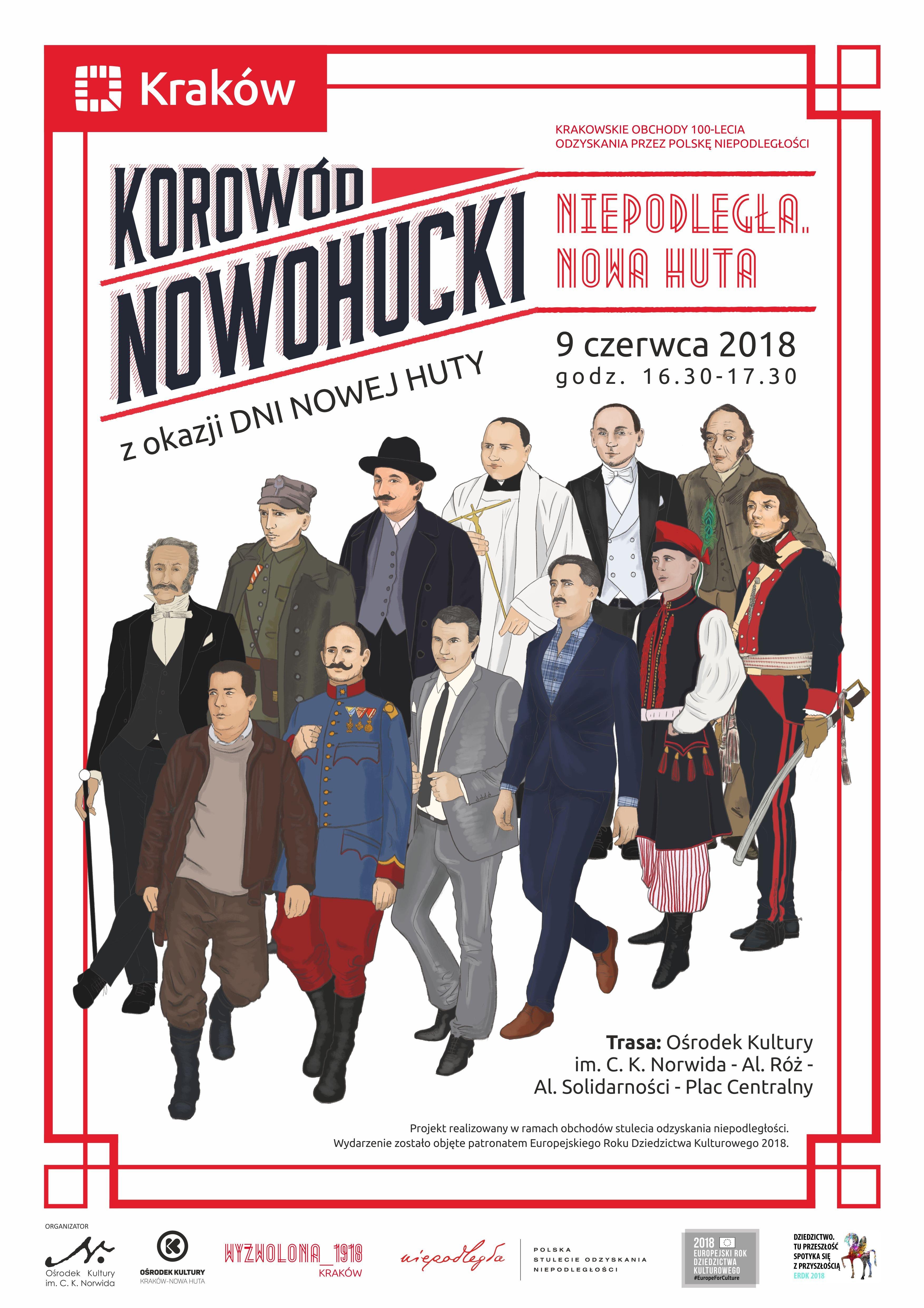 Korowód Nowohucki z okazji Dni Nowej Huty i 100-lecia niepodległości