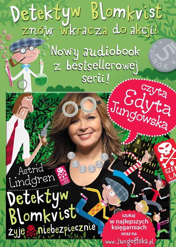 Detektyw Blomkvist żyje niebezpiecznie - nowy audiobook Wydawnictwa Jung-Off-Ska