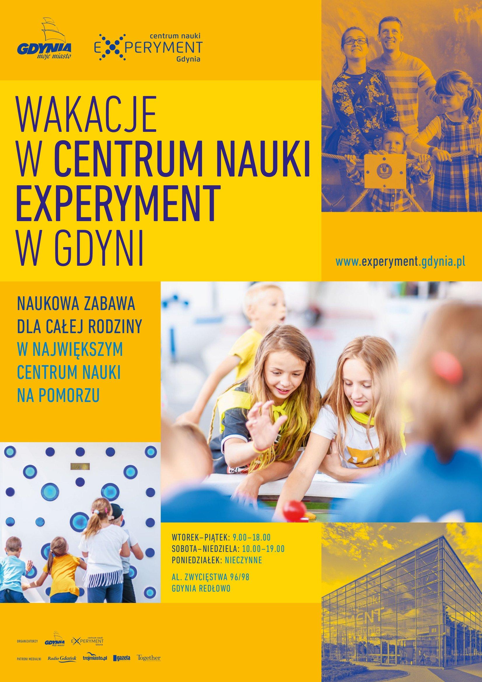 Wakacje w Centrum Nauki Experyment w Gdyni