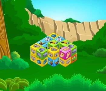 Kostki ze zwierzakami – gra online dla dzieci