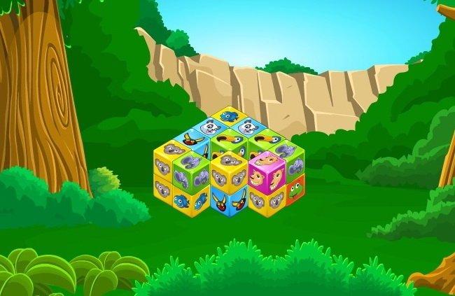 klocki ze zwierzetami logiczna gra online dla dzieci
