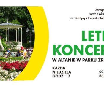 Letnie koncerty w Altanie w Parku Źródliska
