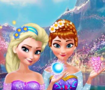 Makijaż Anny i Elsy gra online dla dziewczynek