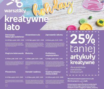 Warsztaty kreatywne ze Słoneczną Krainą - lato 2018