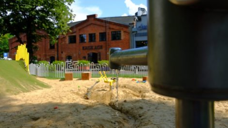 Soho Factory pompa na placu zabawa