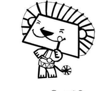 dzielny lew eryk kolorowanka do druku