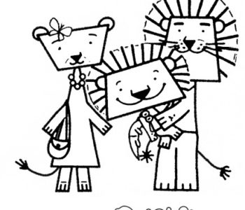 dzielny lew eryk kolorowanka dla dzieci do drukowania