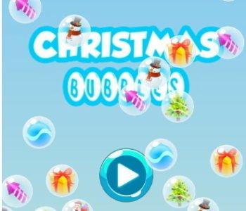 Świąteczne bąbelki. Gra online dla dzieci