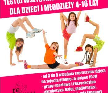 Otwarty tydzień tanecznych testów w reAKTYWACJI