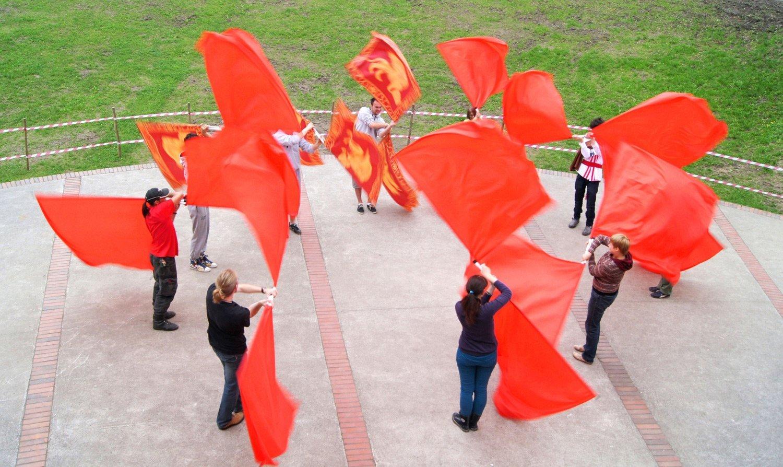 Warsztat włoskiej sztuki żonglerki chorągwiami – Sbandieratori