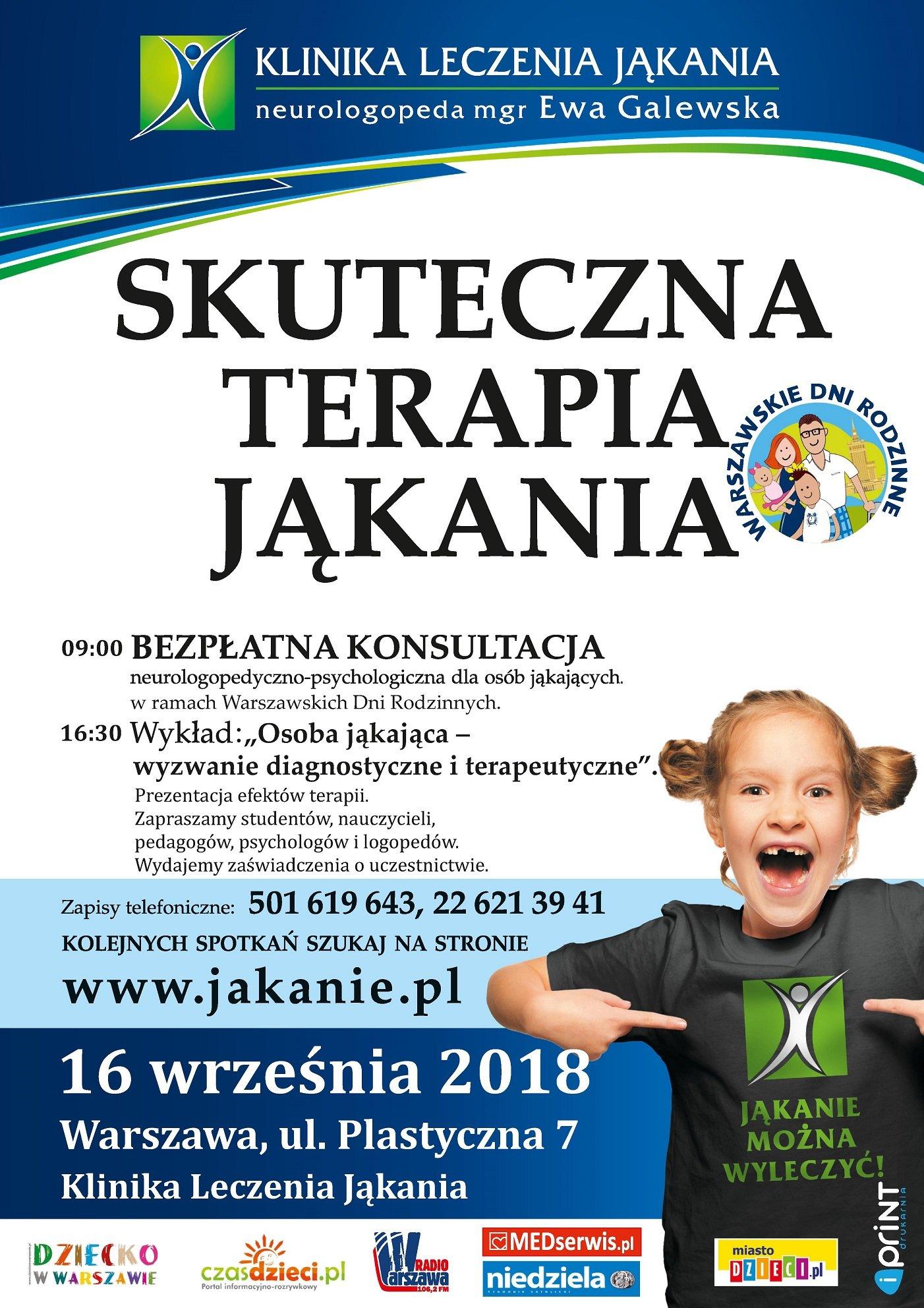 Dni Otwarte w Klinice Leczenia Jąkania w Warszawie