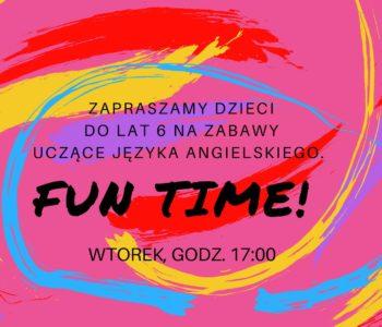 Fun time – zabawy z językiem angielskim dla najmłodszych
