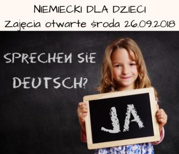Język niemiecki dla dzieci - zajęcia otwarte