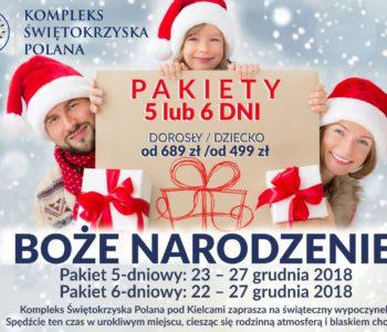 Pakiet pobytowy Kompleksu Świętokrzyska Polana: Boże Narodzenie 2018