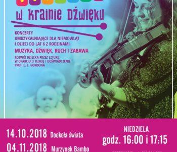 Maluchy w krainie dźwięku –  koncerty umuzykalniające dla niemowląt i dzieci. Ruda Śląska
