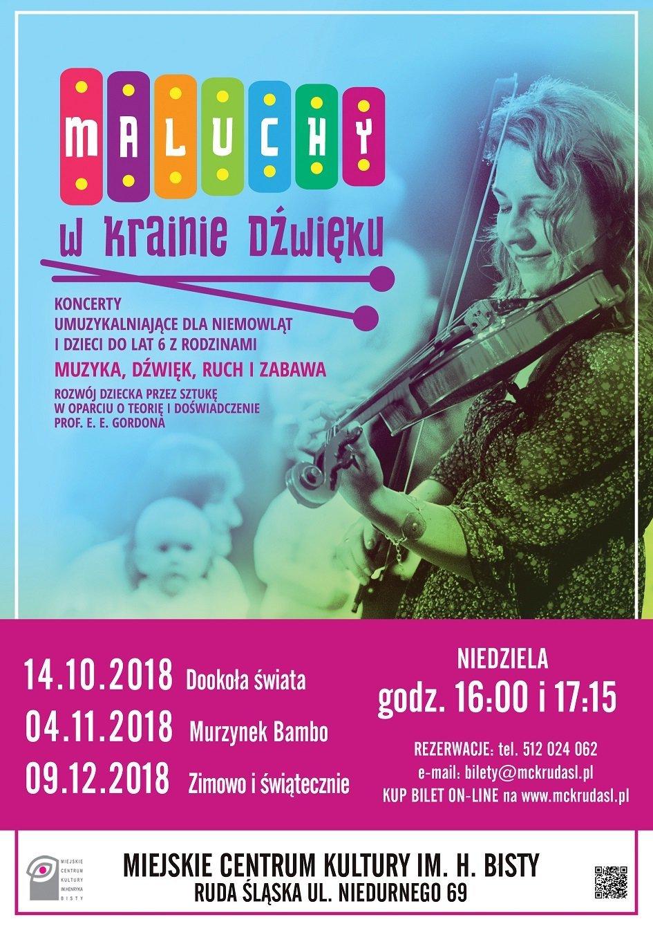 Maluchy w krainie dźwięku - koncerty umuzykalniające dla niemowląt i dzieci. Ruda Śląska