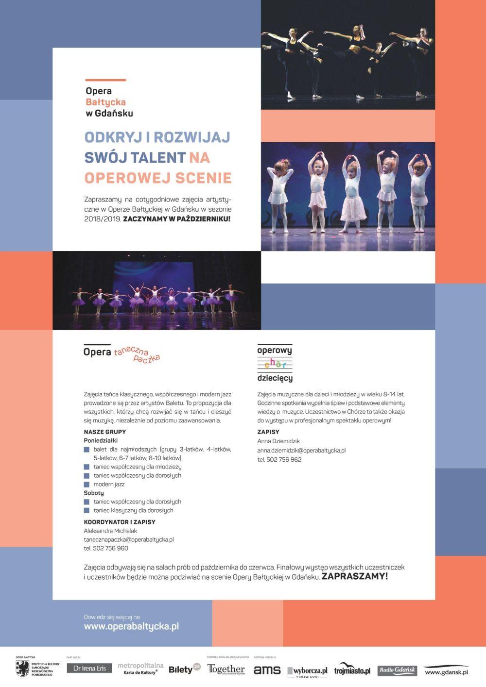 Operowy Chór Dziecięcy – warsztaty w Operze Bałtyckiej