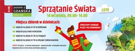 sprzatanie swiata 2018 w Gdańśku atrakcje dla rodzin i dzieci w Trójmieście 2018