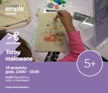 Malowane torby – warsztaty dla dzieci