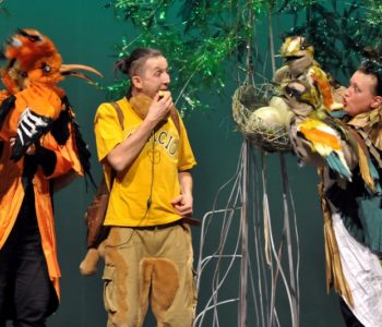 Tymoteusz wśród ptaków w Teatrze Banialuka