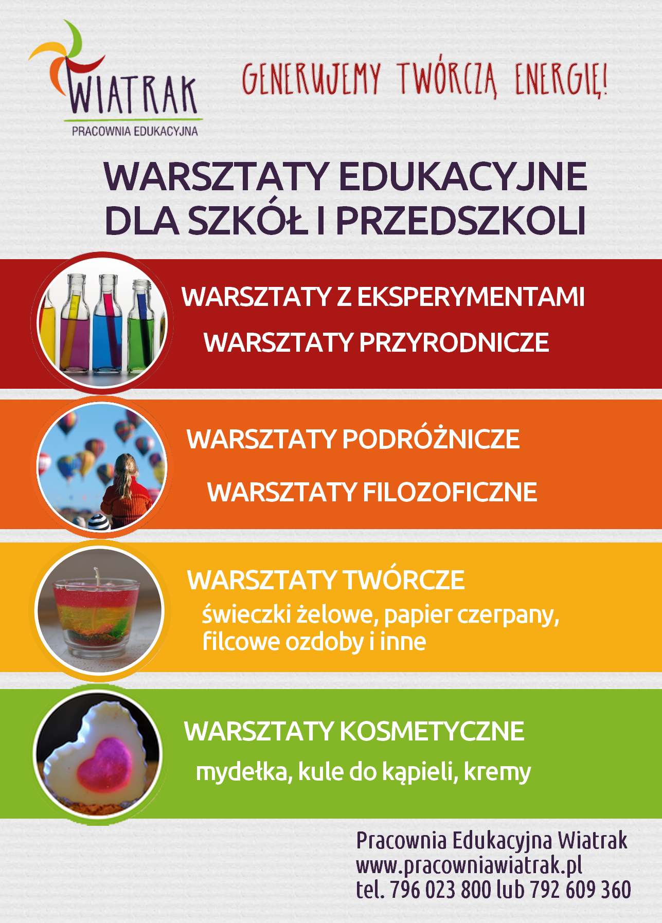 Zajęcia edukacyjne w przedszkolach i szkołach