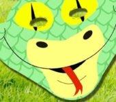 maską wąż szablon do druku