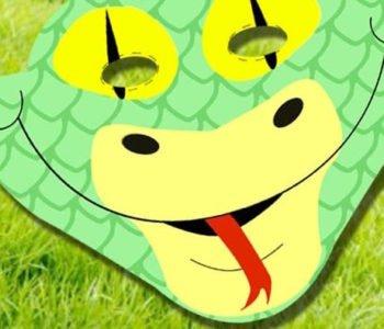Maska – wąż – szablon do druku