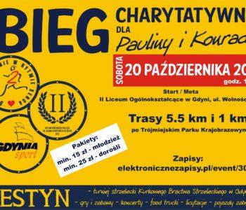 Bieg charytatywny dla Pauliny i Konrada w Gdyni