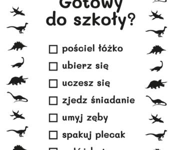 lista zadań dla dziecka kolorowanka do druku dla dzieci MiastoDzieci.pl