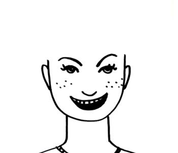 Głowa do rysowania fryzur - pieguska kolorowanka do druku dla dzieci