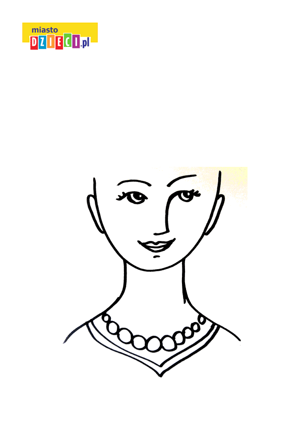 głowa do tworzenia fryzur kolorowanka do druku dla dzieci