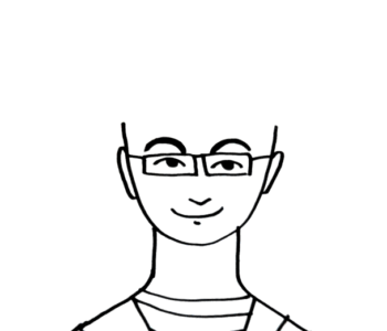 Głowa do rysowania fryzur - pan w okularach kolorowanka do druku dla dzieci