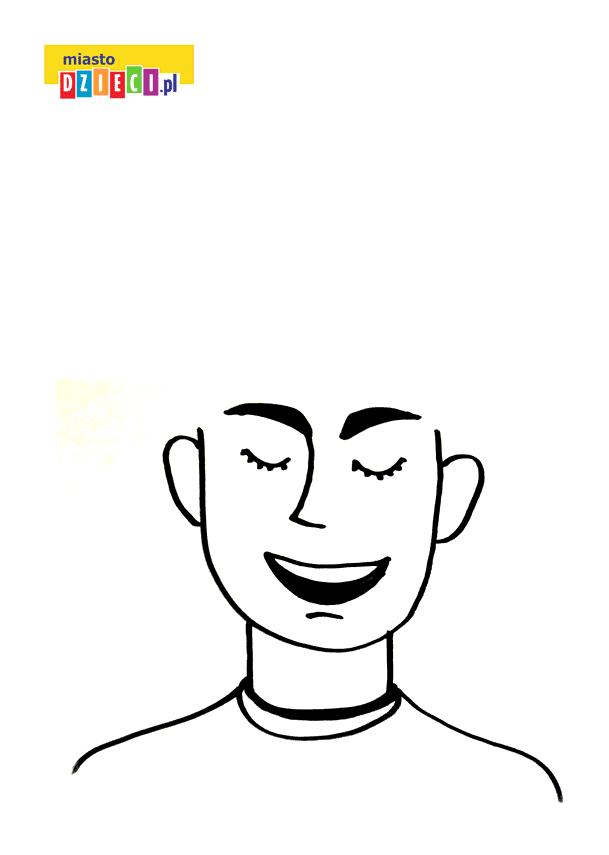 głowa do rysowania fryzur kolorowanka do druku dla dzieci