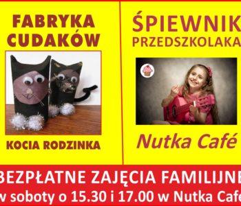 Fabryka Cudaków i Śpiewnik Przedszkolaka - bezpłatnie w Nutka Cafe