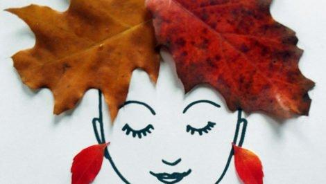 Jesienna fryzura z liści. Zabawa dla dzieci.