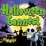 Halloweenowa gra Connect. Gra online dla dzieci