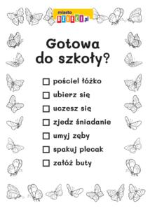 lista zadań dla dziewczynki