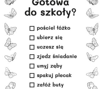 lista zadań dla dziewczynki kolorowanka do druku dla dzieci MiastoDzieci.pl