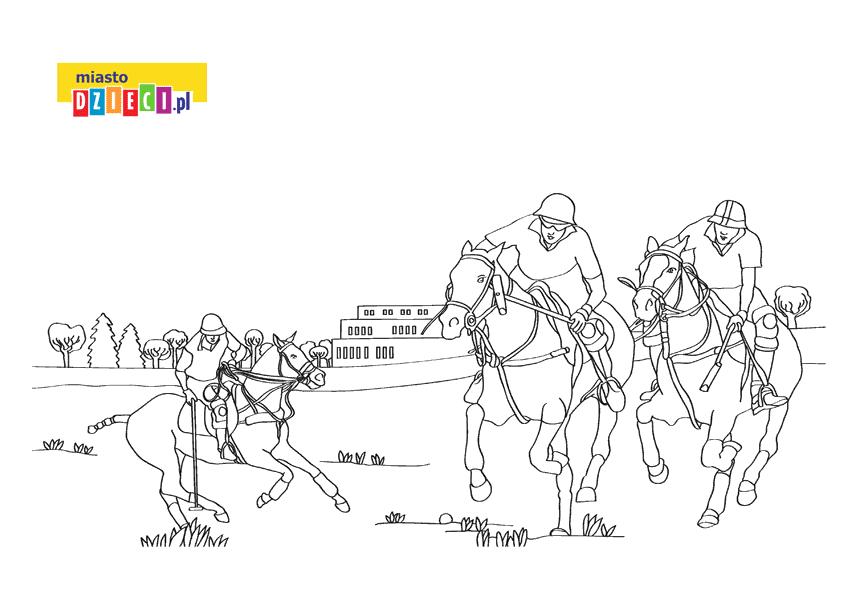 polo kolorowanka do druku dla dzieci MiastoDzieci.pl