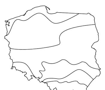 Polska - krainy geograficzne kolorowanka do druku dla dzieci
