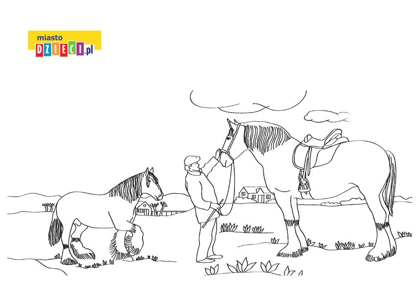 shire kolorowanka do druku dla dzieci MiastoDzieci.pl