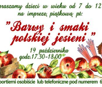 Barwy i smaki polskiej jesieni - impreza dla dzieci
