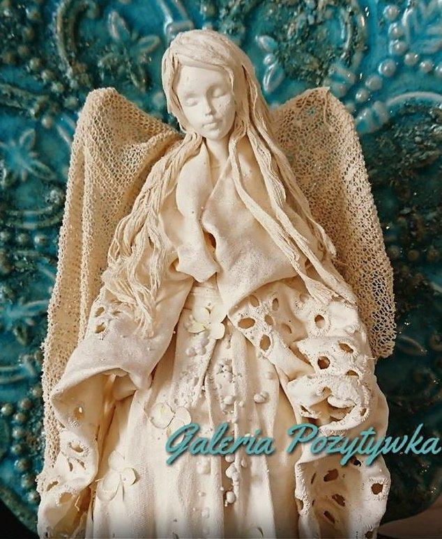 Anioł z utwardzanych tkanin Powertex - warsztaty