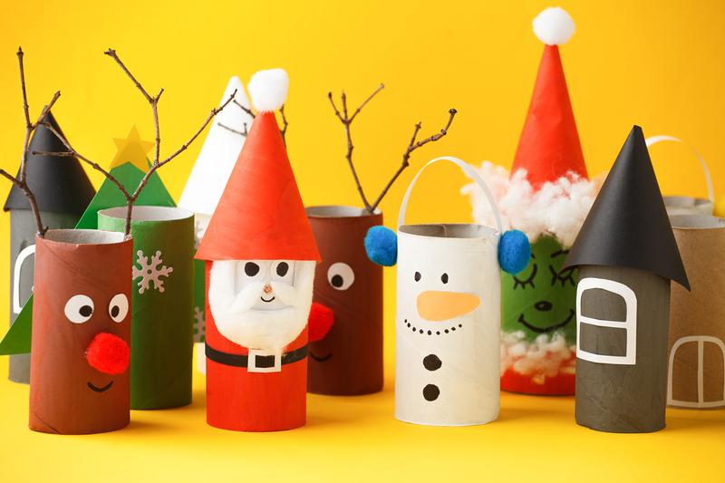 Ozdoby handmade Boże Narodzenie zabawa plastyczna dla dzieci