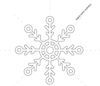 Śniegowy płatek – szablon do wycięcia