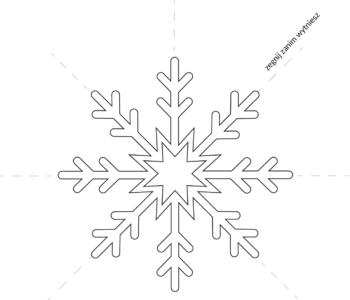 Śniegowa gwiazdka