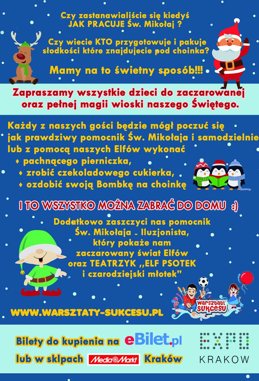 Mikołajki Kraków - wioska Św Mikołaja 2018 atrakcje dla dzieci