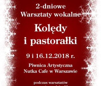 """2-dniowe Warsztaty Wokalne """"Kolędy i pastorałki"""" z nagraniami"""