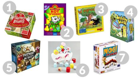 gry planszowe dla dzieci 3-5 lat