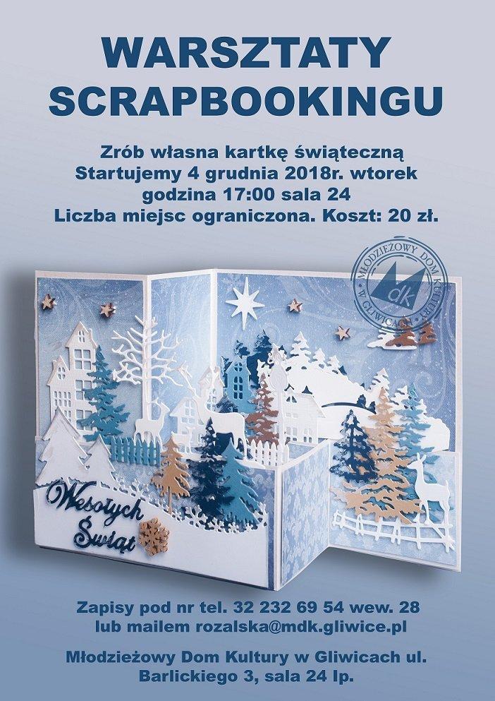 Warsztaty scrapbookingu - świąteczna kartka